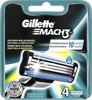 Gillette Lames de rasoir MACH3 - Pack de 4 recharges  recharges de rasoir homme