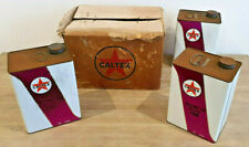 RARE x3 set VINTAGE Caltex Trasmission Fluid Service Station Tin Petrol Bulk Lot