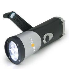 Life Gear H2O Waterproof LED Flashlight - Crank Power - No Batteries Needed