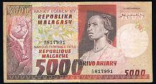 MADAGASCAR - 5000 FRANCS Pick n° 66 de 1974 non daté en TB A/20 817991
