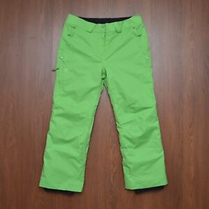 Salomon ClimaPro 10K Ski Snowboarding Waterproof Winter Womens Green Pants sz L