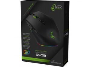 Mediarange Gaming Maus optisch mit Kabel 8 Tasten 5000 dpi schwarz MRGS203