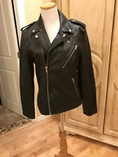 Urban Outfitters Genuine Leather Motorcycle Jacket Womens Size M ~NEW