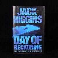 2000 Day Of Reckoning Jack Higgins First UK Edition Signed Scarce