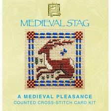 Textile Heritage Counted Cross Stitch Kit - Mini Card  - Medieval Stag