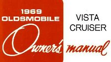 1969 Oldsmobile Vista Cruiser Owners Manual User Guide Operator Book Fuses Fluid