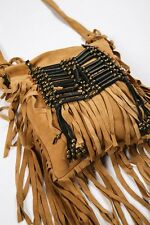 Spell & the Gypsy Collective Wild Belle Cross Body Bag Pouch Fringe Purse Carame