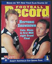 1997 Ansett Cup Grand Final Geelong vs Carlton Football Record unmarked