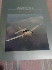 Airplane Sales Brochure, 1985 Piper Warrior ll, Specs And Details, Photos, Nice!