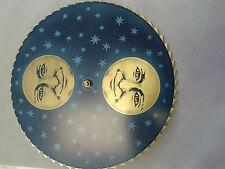 Hermle-Kieninger Grandfather clock dial  moon disk