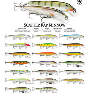 Rapala Scatter Rap Minnow // SCRM11 // 11cm 6g Fishing Lures (Choice of Colors)
