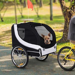 PawHut Pet Stroller Dog Jogger Folding Bike Cargo Trailer Carrier Bicycle Black