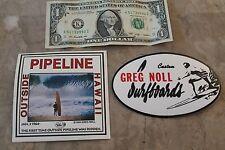 Greg Noll Da Bull Hawaii Pipeline Surfing vinyl 5in. SURF Sticker - Lot of 2