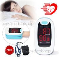 FDA / CE dedo oxímetro de pulso del dedo SPO2 monitor de oxígeno PR + Case