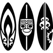 Sticker déco autocollant vinyle adhésif Afrique planche de surf ethnique tribal
