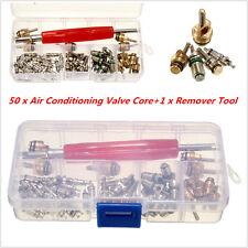 50Pcs Car R12/ R134A Automotive Air Conditioning A/C Core Valves &1x Remover Kit