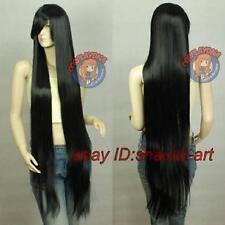 Wigs,150CM noir long raide santé cosplay Costume cheveux perruques