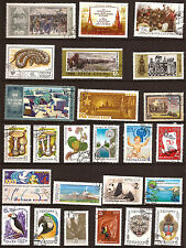 U.R.S.S. RUSSIE  25 timbres oblitérés,Animaux et sujets divers  51T5