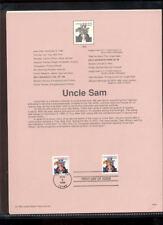 #3259-63 22c Uncle Sam USPS #9834 Souvenir Page