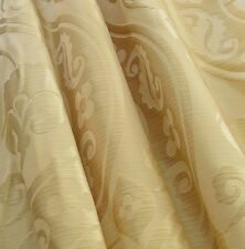 """10Y RADIANT 100%SILK DAMASK SATIN  PEONY RIVER""""WHITE GOLD"""" HiEND!"""