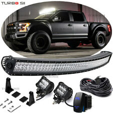 "54"" Curved LED Light Bar Offroad Driving 2004-14 Ford F150/SVT Raptor Upper Roof"