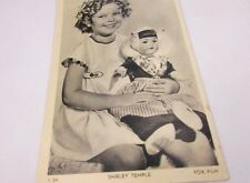 Shirley Temple Photo Post Card Foreign Shirley and Doll Original 1935
