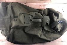 Vintage Military Duffel Bag Us Army Canvas Od Green