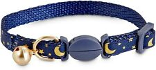Bond & Co. Moon & Star Breakaway Kitten Collar Blue - Used
