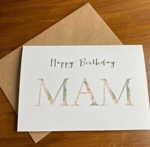 Personalised Birthday Card & Envelope (Floral Design)