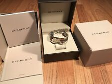 Burberry Nova Check Strap Watch $450 Swiss Made
