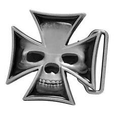 New Iron Cross Skull Belt Buckle
