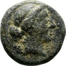 Koc Greek Coins.Aeolis. Kyme ca250-200BC. AE16. 14mm.3,09g.Head of the Amazon K.