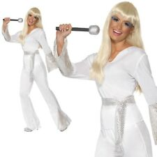 70s ABBA Disco Ladies Dancing Queen Fancy Dress Costume Super Trooper UK 8 - 18 Medium