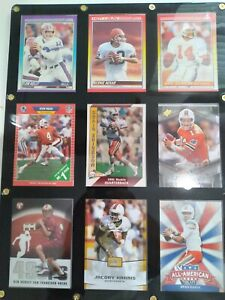 Miami Hurricanes All Time QBs Framed Cards