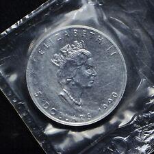1990 Canada $5 Maple 1-oz .9999 Silver In Original Plastic (slb2047)