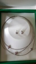 Boodles flower press pink sapphire and diamond necklace, ring and earrings set