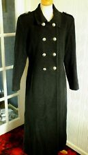 LADIES CHARLOTTE HATTON WOOLLEN MILITARY STYLE LONG COAT SIZE 12