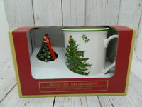 Spode Christmas Tree 11 oz Mug & LED Holiday Ornament NEW NIB