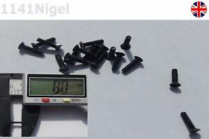 M2 x 8mm Black Phillips Flat Head Countersunk Small Screws, PC Laptop Repair -