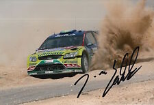 Jari Matti Latvala Hand Signed 12x8 Photo Ford Abu Dhabi Rally 7.