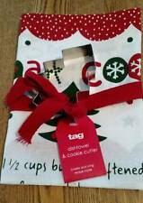 Tag Holiday Sugar Cookie Kitchen Towel & Tree Cookie Cutter NEW With Recipe