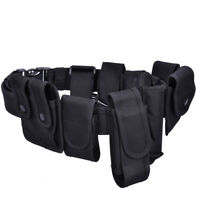 9-Pouches Tactical Army Police Security Guard Duty Utility Belt Pouches System