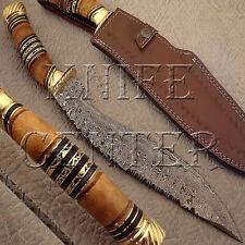 BEAUTIFUL HAND MADE DAMASCUS STEEL KUKRI KNIFE | HUNTING KNIFE | BOWIE KNIFE