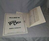 Allied WILD CYCLE Original Arcade Game Machine Parts Catalog Manual