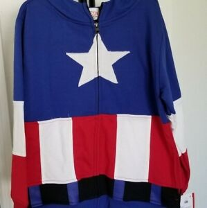 Marvel Captain America Masked Hoodie Childs Sz Small