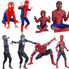 Kids Boys Spiderman Superhero Fancy Dress Cospaly Costume Halloween Carnival