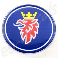 "63.5mm/2.50"" SAAB BLUE Chrome Griffin Rear Badge Emblem 9-5 9-3 aero 3D decal"