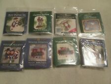 Lot Of 8 Beaded Christmas Kits-Mill Hill-Needlepoint Kit