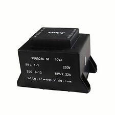 YHDC PE6028K-M Power 40VA/220V/18V PCB Welding Encapsulated Transformer