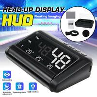Universal HUD HD Head UP GPS Speedometer Gauge Digital Display Car Speed Warning